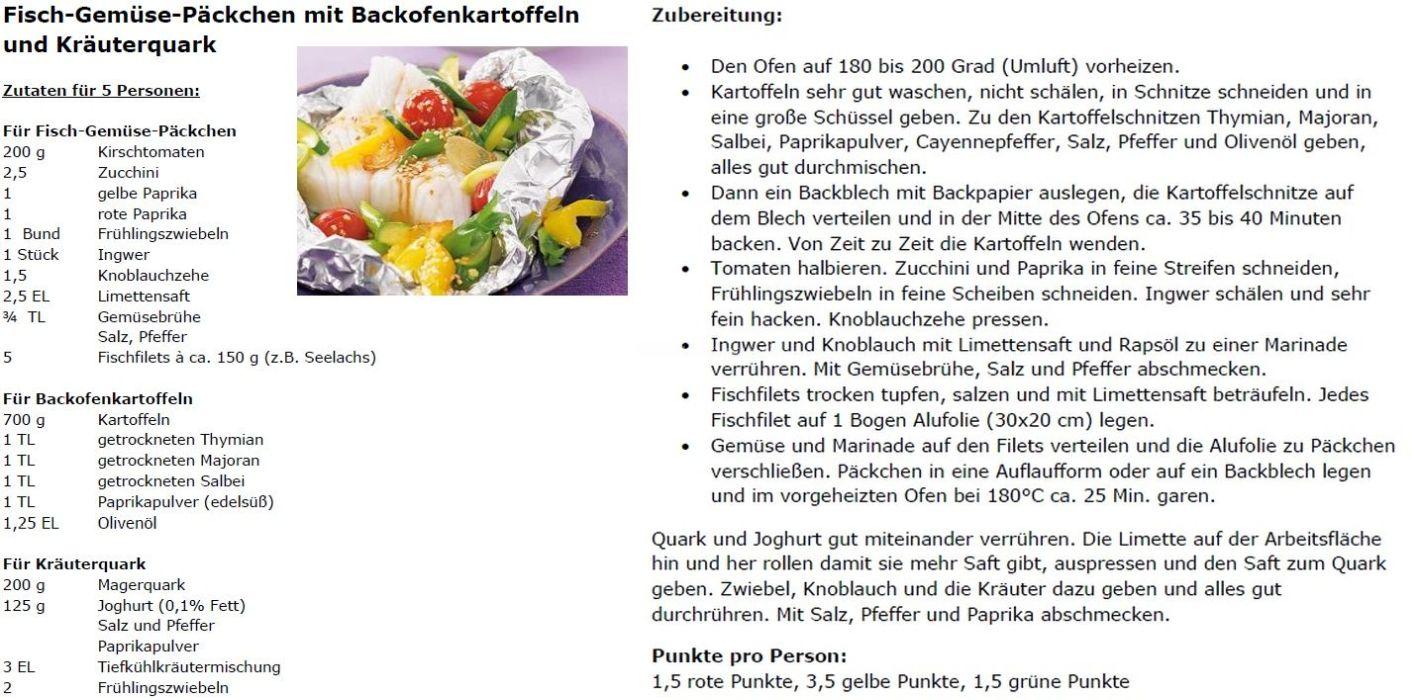 Fisch-Gemüse-Päckchen mit Backofenkartoffeln und Kräuterquark