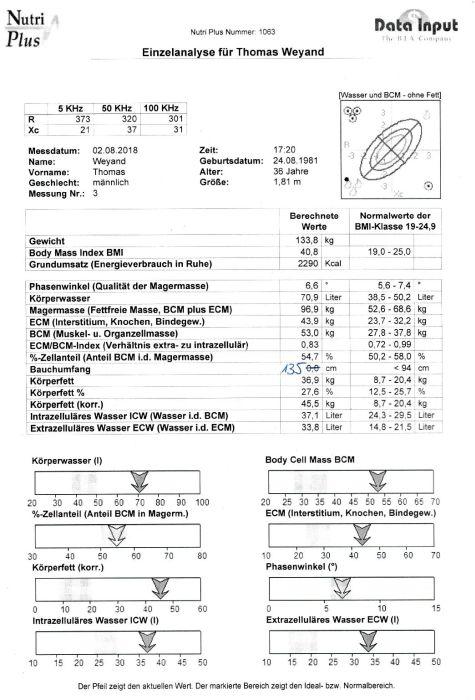 Ergebnisse BIA-Messung 02.08.2018