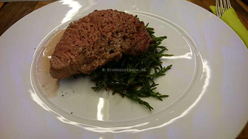 Gegrilltes Steak Tatar von der Rinderhüfte