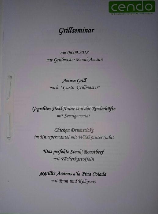 Grillseminar Menü